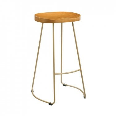 Bailey Pine & Gold Bar Stool