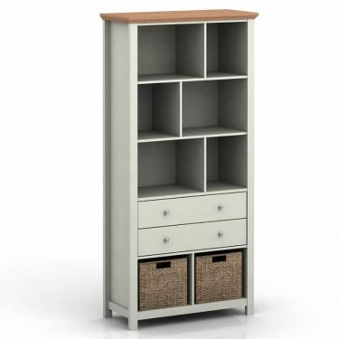 Bakersfield 2 Drawer Bookcase, Grey & Oak
