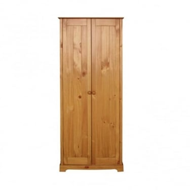 Baltic Antique Pine 2 Door Wardrobe