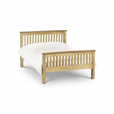 Barcelona Antique Pine Double High End Bed