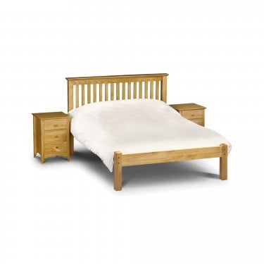 Barcelona Antique Pine Double Low End Bed