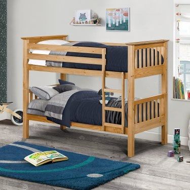 Barcelona Antique Pine Single Bunk Bed