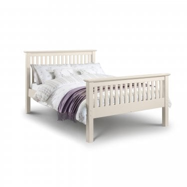 Barcelona Stone White Kingsize High End Bed