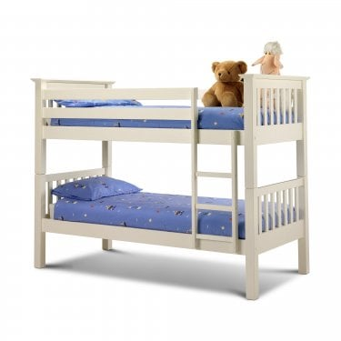 Barcelona Stone White Single Bunk Bed