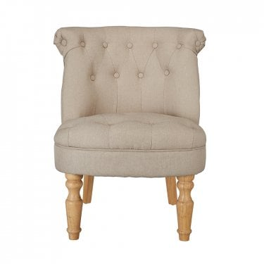Barrett Occasional Chair, Beige & Linen