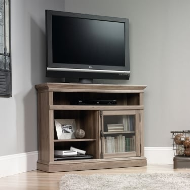 Barrister Salt Oak Corner TV Unit