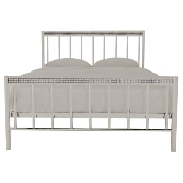 Bellini Double Metal Bed, Silver