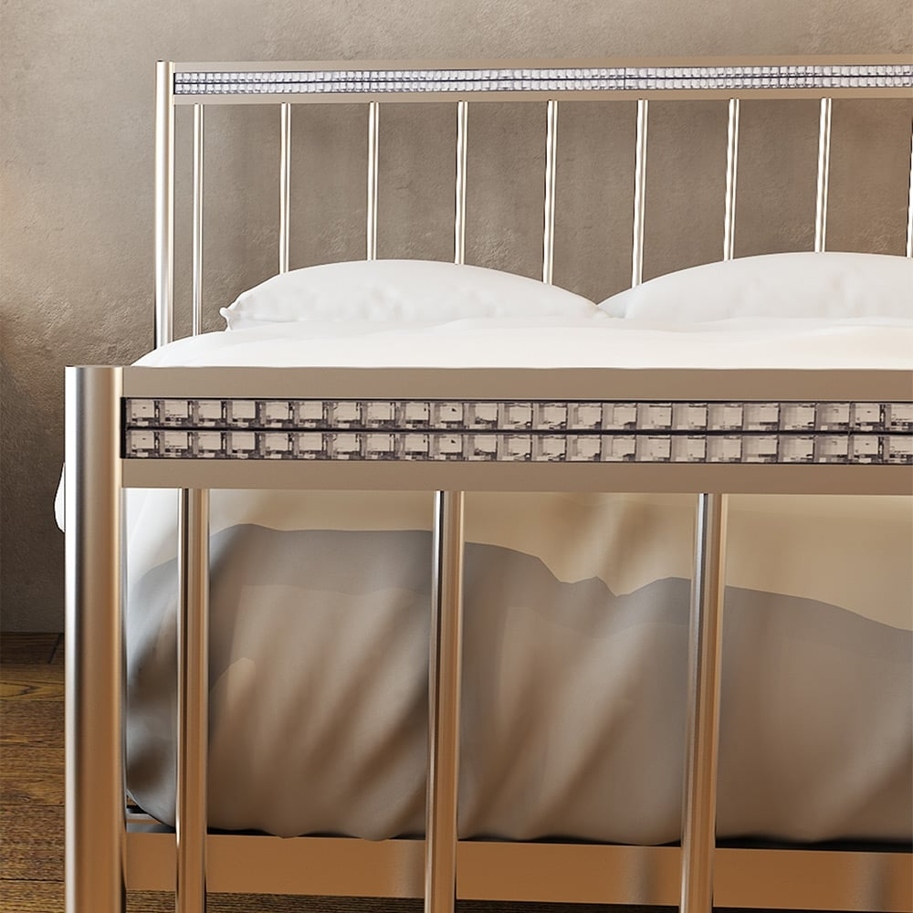 Lpd Furniture Bellini Silver Bed Leader Stores
