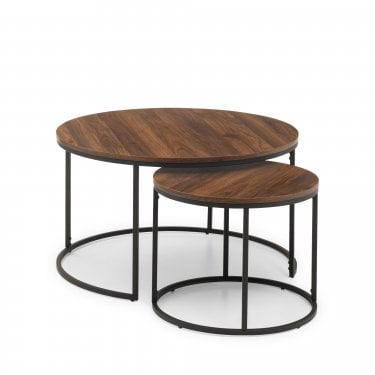 Bellini Walnut Nest of Coffee Tables