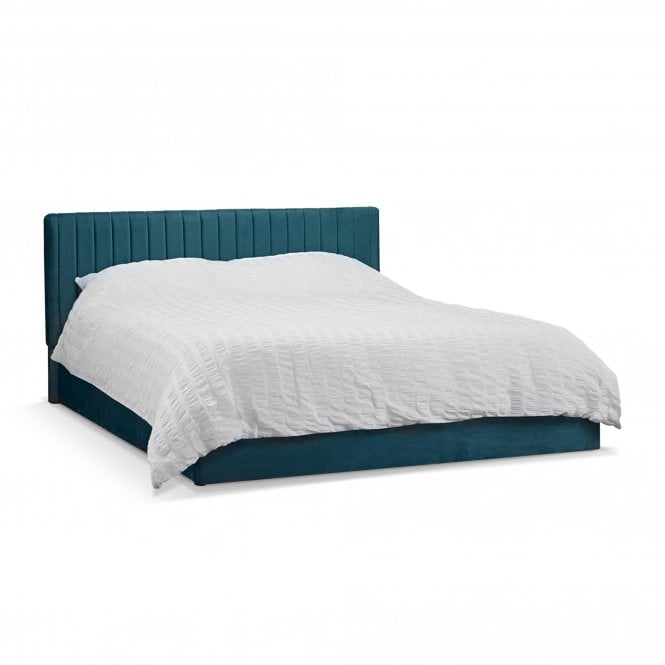 Berlin Double (4'6'') Ottoman Bed, Teal Velvet