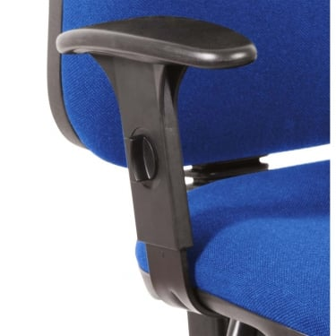 Black Adjustable Comfort Chair Arms