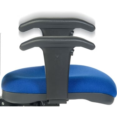 Teknik Black Adjustable Delta Chair Arms (1608)