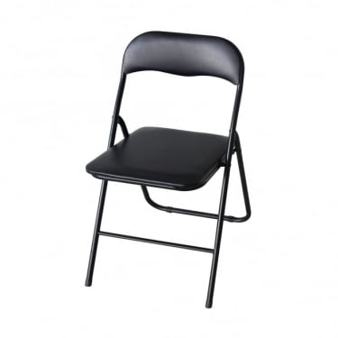 LPD Furniture Black Folding Desk Chair