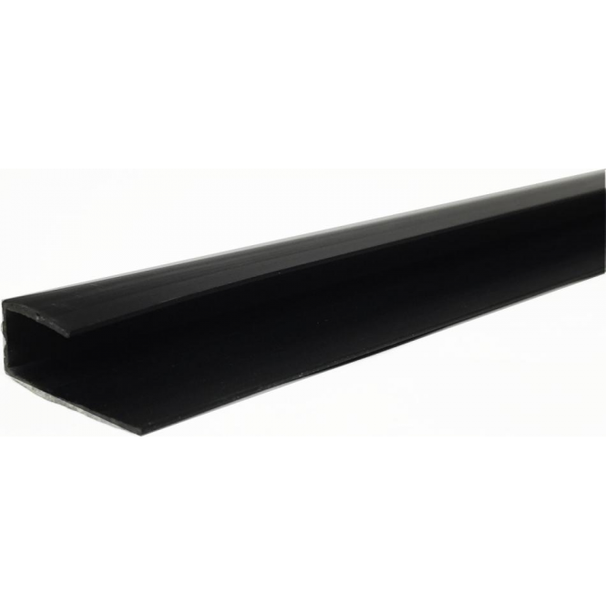 Black PVC Plastic Cladding End Cap