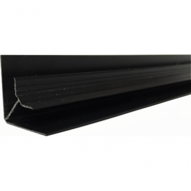 Black PVC Plastic Cladding Internal Corner