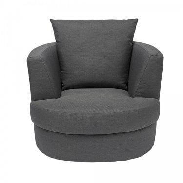 LPD Furniture Bliss Grey Small Swivel Chair (BLISSGRESMA)