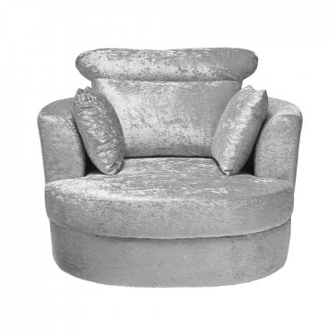Bliss Large Swivel Chair, Silver