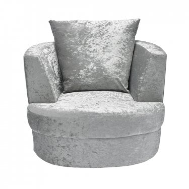Bliss Silver Small Swivel Chair