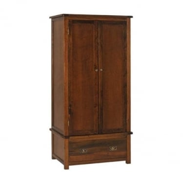 Boston Dark Lacquer Ash 1 Drawer 2 Door Wardrobe
