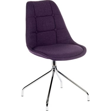 Breakout Plum Chair Pair with Chrome Legs