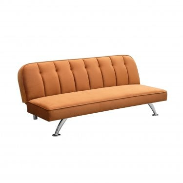 Brighton 3 Seater Futon, Orange