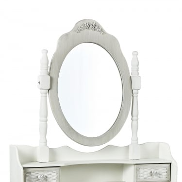 Brittany Dressing Table Mirror, White
