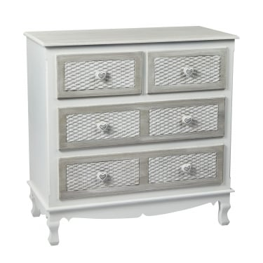 LPD Furniture Brittany Hand Painted Shabby Chic 2+2 Drawer Chest (BRITT2+2)