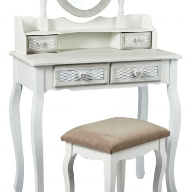 LPD Furniture Brittany Hand Painted Shabby Chic Dressing Table (BRITTDRESS)