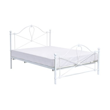 Bronte Single Metal Bed, Cream