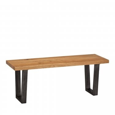 Brooklyn 2 Seater Dining Bench, Oak