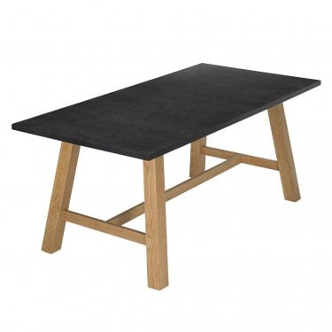 Brooklyn Black Concrete Effect Dining Table