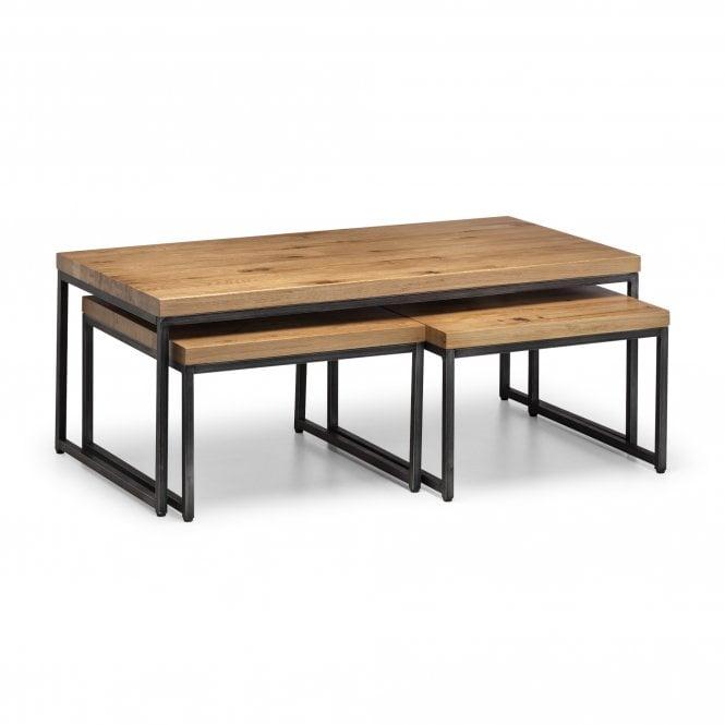 Brooklyn Nesting Table Set Of 3, Oak