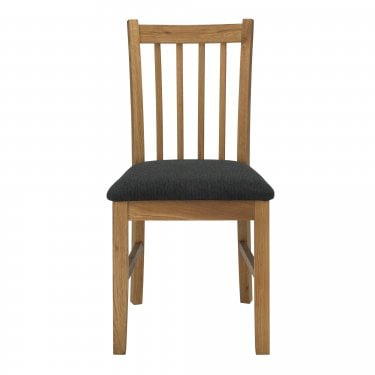 Brooklyn Oak & Black Dining Chair Pair