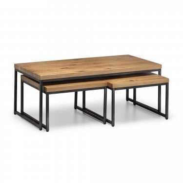 Brooklyn Oak Nest of Coffee Tables
