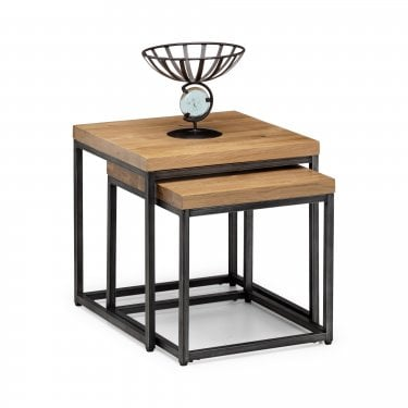 Brooklyn Oak Nest of Lamp Tables