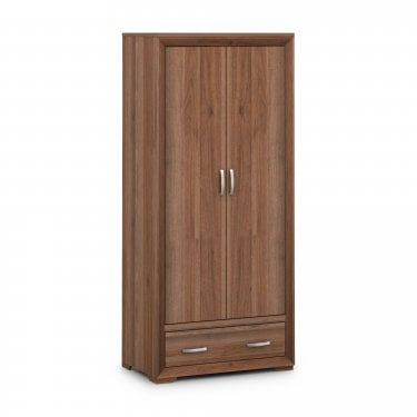 Buckingham Walnut 2 Door Combination Wardrobe