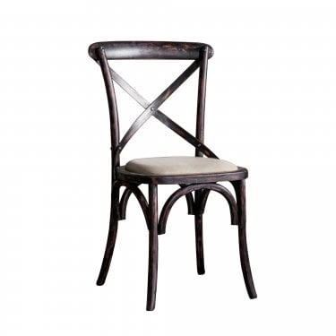 Cafe Dining Chair Set Of 2, Black