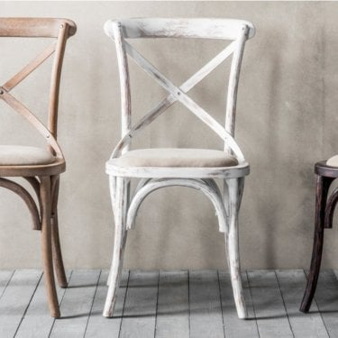 Cafe Dining Chair Set Of 2, White
