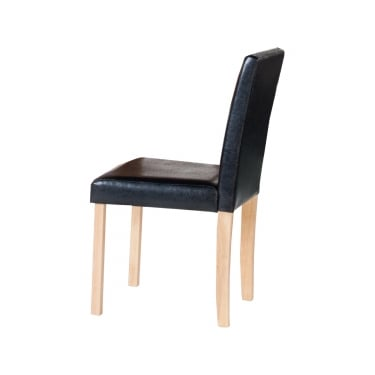 Cambridge Black Dining Chair Pair With Oak Legs