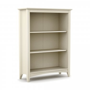 Cameo 3 Drawer Bookcase, Stone White