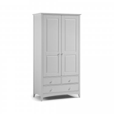 Cameo Dove Grey 2 Door Combination Wardrobe