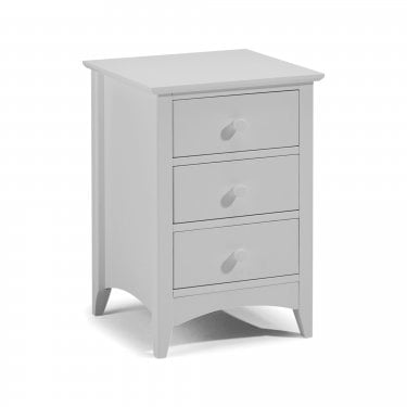 Cameo Dove Grey 3 Drawer Bedside Cabinet