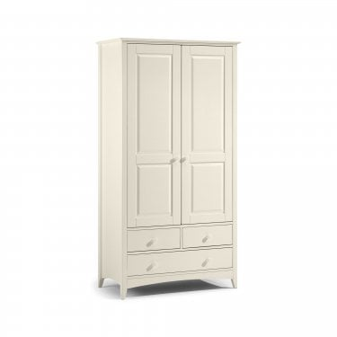 Cameo Stone White 2 Door Combination Wardrobe
