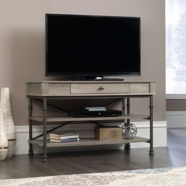 Canal Heights Northern Oak TV Unit with Black Metal Frame