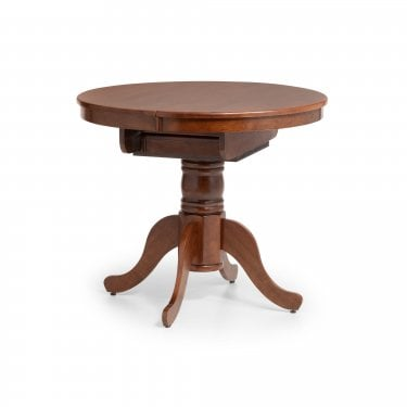 Canterbury Round Extending Dining Table, Mahogany