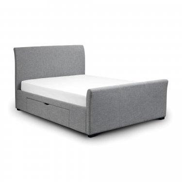 Capri Grey 2 Drawer Double Bed