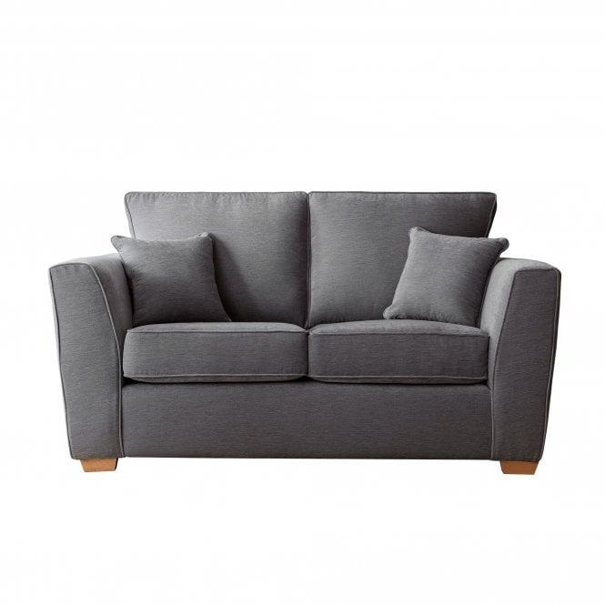 Carrington 2 Seater Sofa, Manhattan Charcoal Velvet