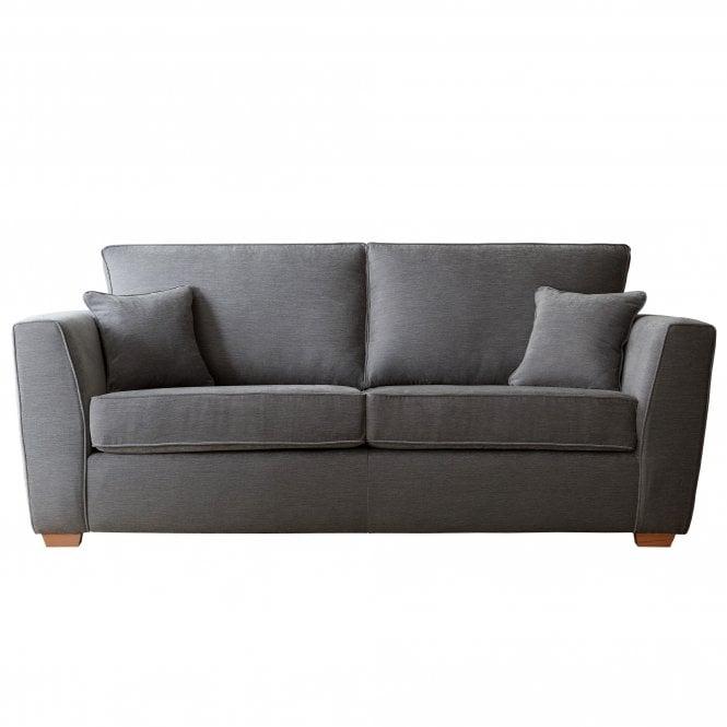 Carrington 3 Seater Sofa, Manhattan Charcoal Velvet