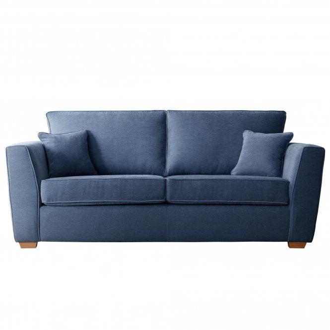 Carrington 3 Seater Sofa, Manhattan Navy Velvet