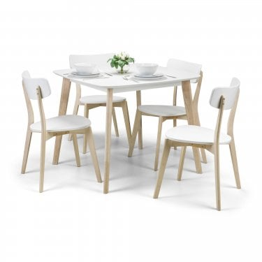 Casa Dining Set Of 4, White